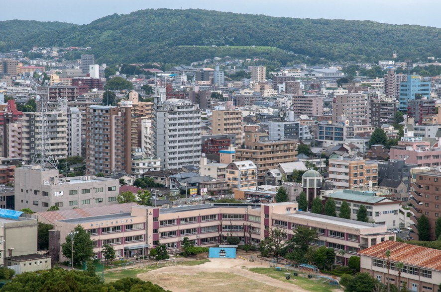 View of Kumamoto from the Castle